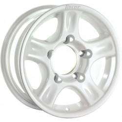 Jante Aluminium 4x4 RACER 7x16 5x130 CB84.1 ET+30 Charge 1300Kg Blanche. Livrée Avec Cache Moyeu