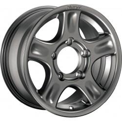 Jante Aluminium 4x4 RACER 8x17 5x120 CB70.2 ET+38 Charge 1450Kg Grise. Livrée Avec Cache Moyeu