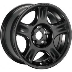 Jante Aluminium 4x4 RACER 8x17 5x120 CB70.2 ET+38 Charge 1450Kg Noire. Livrée Avec Cache Moyeu