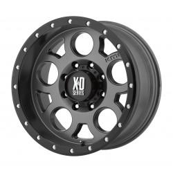 Jante Aluminium 4x4 KMC XD126 9x17 5x127 CB78.3 ET-12 Matte Gray + Black Ring