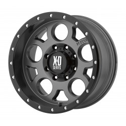 Jante Aluminium 4x4 KMC XD126 9x18 6x139.7 CB106.25 ET+18 Matte Gray + Black Ring