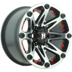 Jante BALLISTIC 814 9x17 6x139.7 CB110 ET0 Flat Black Machined