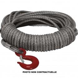 Câble de Treuil Synthétique T-MAX QUAD Ø6.3mm x 15m