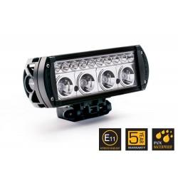 Barre/Rampe LED 08'' LAZER RS-4 Noire Faisceau Spot (longue portée) 15° 48w 3632lm Garantie 5 ans