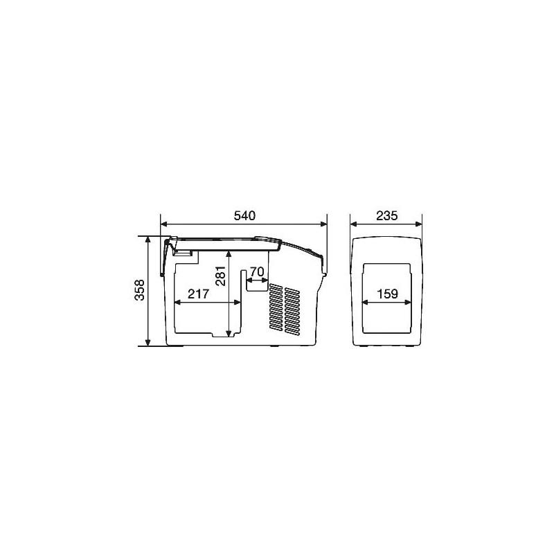 glaci re compresseur waeco dometic cf 11 12 24v 100 240v 10 5l cf 011ac. Black Bedroom Furniture Sets. Home Design Ideas