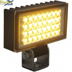 Phare de Travail LED Rectangulaire 3.4'' VISION X UTILITY 6W 0.5A 500LM Faisceau Flood (AB) 120° Ambre