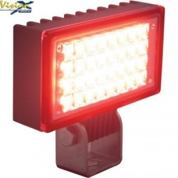 Phare de Travail LED Rectangulaire 3.4'' VISION X UTILITY 6W 0.5A 500LM Faisceau Flood (AB) 120° Rouge