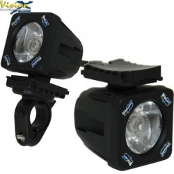Kit Support Guidon + Support Casque VISION X pour Phare LED SOLSTICE SOLO