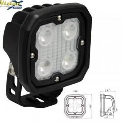 Phare de Travail LED Carré 4'' VISION X DURALUX-4 20W 2112LM Faisceau Spot (LP) 10° (kit)