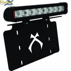 Barre/Rampe LED 12'' VISION X XMITTER LOW PRO 45W 4.752LM Avec Support Plaque Minéralogique
