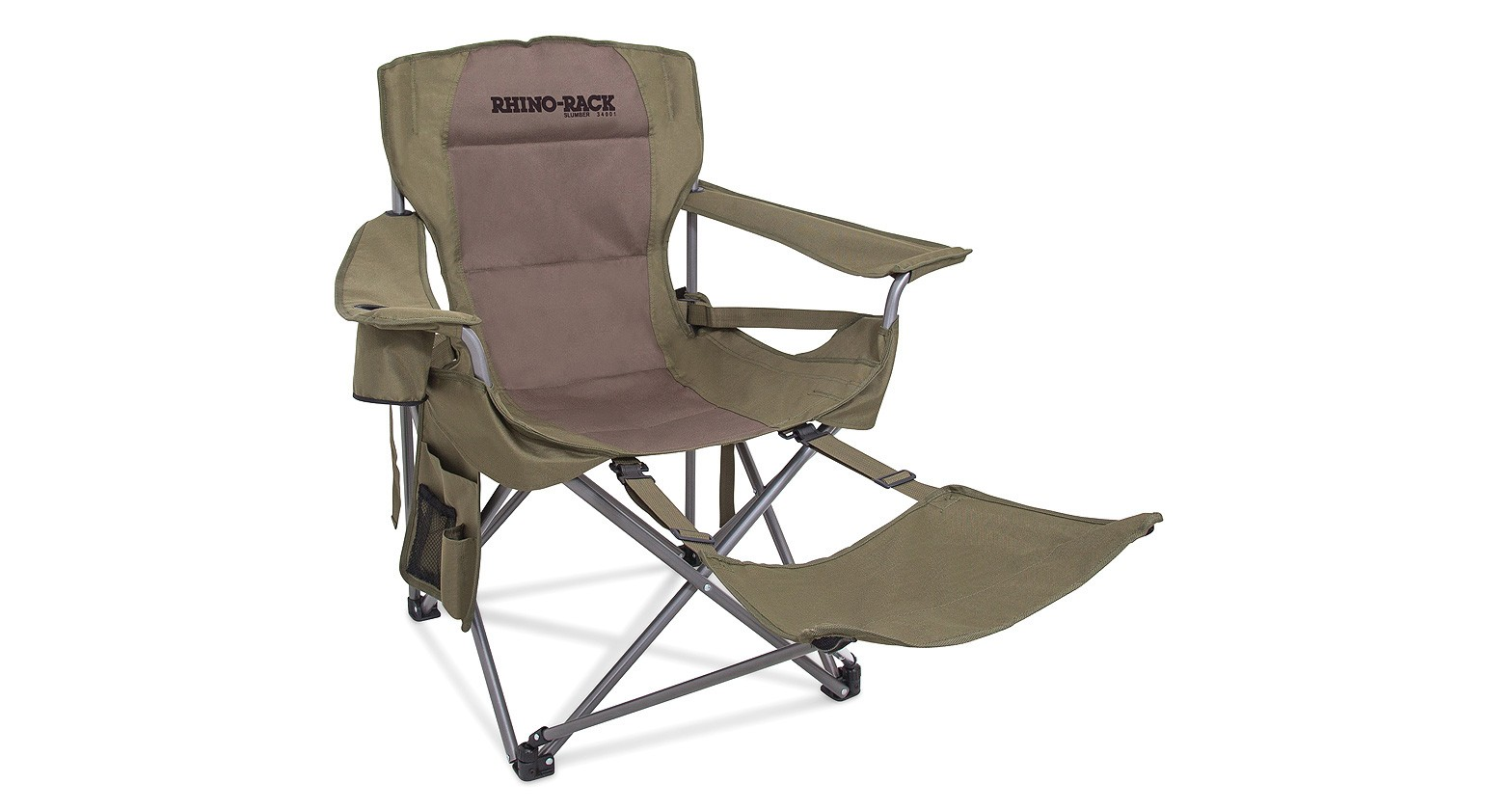 fauteuil pliant rhino rack avec repose pieds amovible. Black Bedroom Furniture Sets. Home Design Ideas
