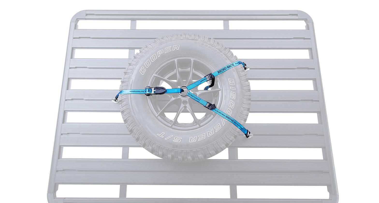 sangle d arrimage y pour roue de secours sur plateforme rhino rack pioneer rsws. Black Bedroom Furniture Sets. Home Design Ideas