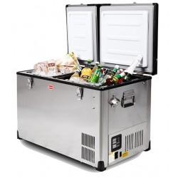 Réfrigérateur congélateur portable à double compartiment SNOMASTER SMDZ-EX67D • 66 litres • 12v 220v