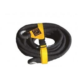 Sangle de traction kinetic BLACKSNAKE 8t x 6m x Ø 22mm • Elasticité 20%