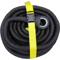Sangle de traction kinetic BLACKSNAKE 20t x 20m x Ø 32mm • Elasticité 20%