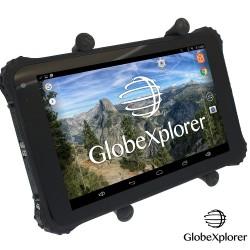 Tablette tactile étanche et antichocs GPS GLOBE 4X4 X8 Androïd + OZI Explorer + Guidage routier Monde