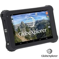 Tablette tactile étanche et antichocs GPS GLOBE 4X4 X10 Androïd + OZI Explorer + Guidage routier Monde