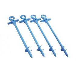 Pack de 4 piquets d'ancrage BLUESCREW Small