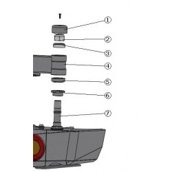 Ecrou inférieur d'axe de porte-jerrycan ou porte-roue de secours sur pare-choc arrière AFN