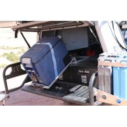 Glissière frigo basculante ALU-CAB FS1 Grise - Int: 720x440mm - Ext: 782x525mm