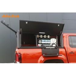Tablette latérale amovible ALU-CAB Noire 600x300mm