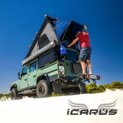 Toit Relevable ALU-CAB ICARUS Noir Land Rover Defender 110
