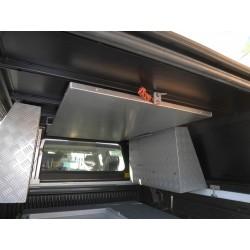 Table pique-nique aluminium ALU-CAB 1100 x780 mm avec support de rangement intérieur sous plafond de hard-top ALU-CAB