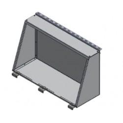 Coffre de rangement latéral ALU-CAB Noir 750mm pour hard-tops ALU-CAB Toyota HZJ79 GRJ79