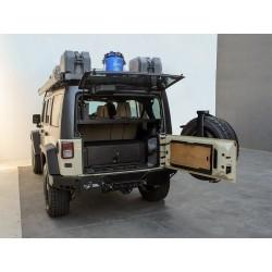 Aménagement de coffre FRONT RUNNER sur mesure pour Jeep Wrangler JK 5 portes