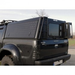 Hard-top aluminium ALU-CAB Adventure Noir Mercedes Class-X Double Cab • Finition Hard Top : Parois Striées