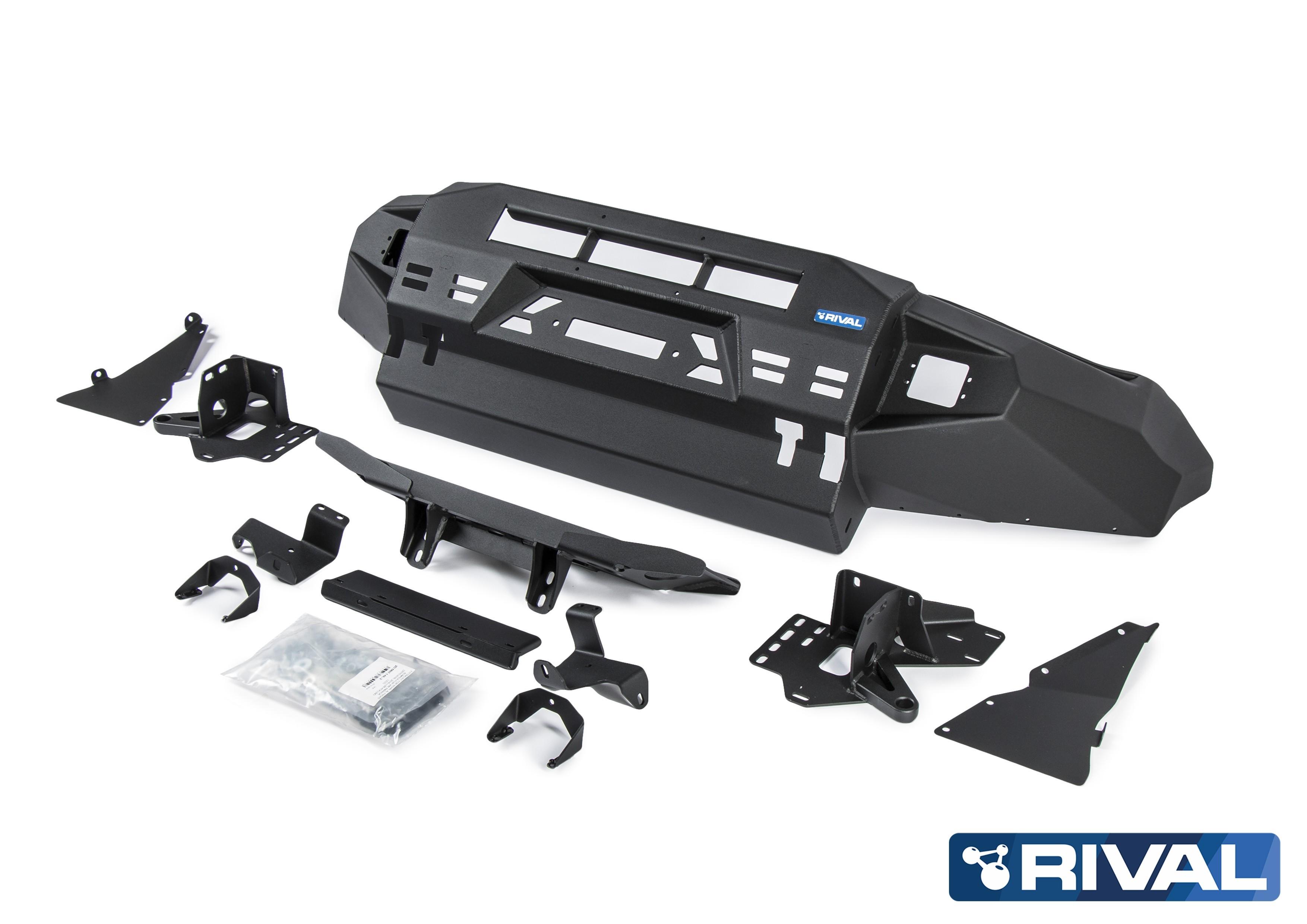 Pare-Choc Avant Aluminium RIVAL Homologué TÜV Sans feux led intégrés Volkswagen Amarok 2010-2016 et 2016+