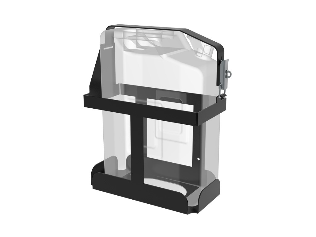 Support simple jerrycan US 20 litres vertical sur galerie FRONT RUNNER Slimline II