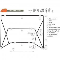 Pièce détachée n°2 pour armature de tentes OZTENT RV OZH