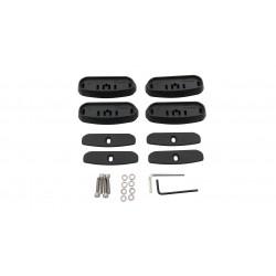 Embases de fixation RHINO-RACK série RCP (4 pièces) • Volkswagen Amarok 02/2011+ RCP24-BK