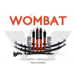 Kit suspension Wombat Nissan Navara NP300 2015+ réhausse 35 mm avant 50-100 kg ressorts hél. Ar. 300-500 kg