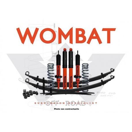 Kit suspension Wombat Nissan NP300 2015+ réhausse 35 mm avant 50-100 kg ressorts hél. Ar. 300-500 kg 202W06