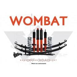 Kit suspension Wombat Ford Ranger 2011+ réhausse 50 mm avant 0-50 kg arrière 0-300 kg 401W01