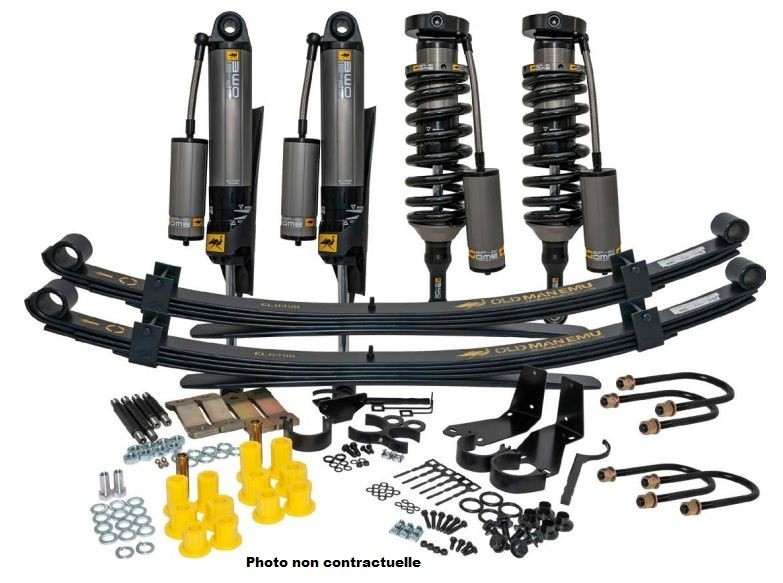 Kit Suspension OME Bp51 Rehausse Av +40mm Arr +40mm +600kg Toyota Hilux Revo