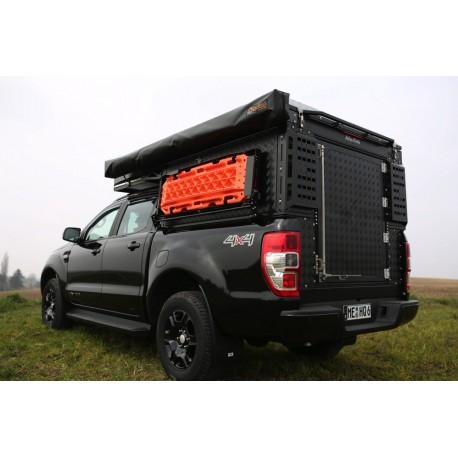 Cellule Canopy Camper Double Cab ALU-CAB Comfort Noire AC-CC-D-COM-B