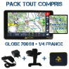 Gps GLOBE 4X4 700SII Pack Tout Compris 1/4 France Sud-Ouest IGN 1:25000