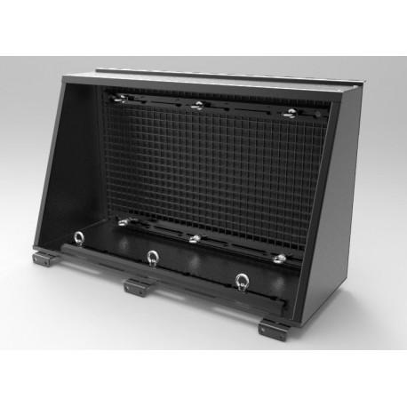 Coffre de rangement latéral ALU-CAB Noir 750mm avec ancrages multiples pour tous hard-tops ALU ...