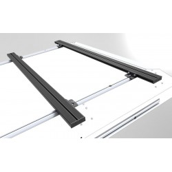 Barres de toit ALU-CAB 1250mm grises • Low Profile • Paire AC-C-A-LB1250LP