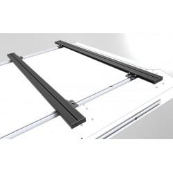 Barres de toit ALU-CAB 1450mm noires • Low Profile • Paire AC-C-A-LB1450LP-B