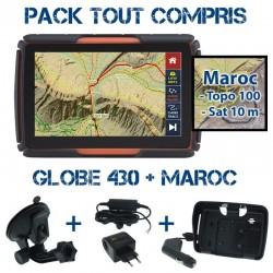 Gps 4x4 GLOBE 430 Pack Tout Compris SD32GB Maroc Topo 1:100 000 et Maroc Sat précision10m PACK TC 430 MAROC