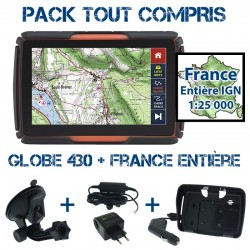 Gps 4x4 GLOBE 430 Pack Tout Compris SD64GB Full France IGN 1:25000 PACK TC 430 FULL FR