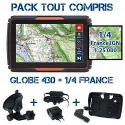 Gps 4x4 GLOBE 430 SD32GB Pack Tout Compris 1/4 France IGN 1:25000 PACK TC 430 1/4 IGN