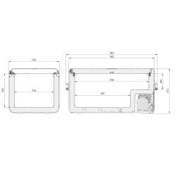 Glacière à compresseur DOMETIC CFX3 100 12/24v 100/240v +10°c à -22°c (88L) CFX3-100