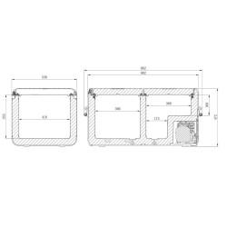 Glacière à compresseur DOMETIC CFX3 95DZ 12/24v 100/240v +10°c à -22°c (82L) CFX3-95DZ