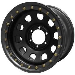 Jante GOSS Daytona Black Mat 7x16 5x165.1 CB125 ET+10 Profondeur 9,3cm. Noire RA626BK