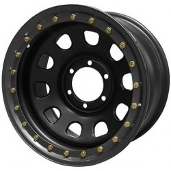 Jante GOSS Daytona Black Mat 7x16 6x139.7 CB110 ET0 Profondeur 10,3cm. Noire RA630BK